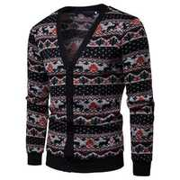 Mens Single Breasted V-Neck Cardigans