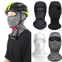 Silk Cycling Head Scarf Face Mask Sunproof Anti UV Breathable Men Women Outdoor Headwear