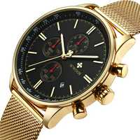 WWOOR 8862 5ATM Waterproof Chronograph Men Wrist Watch