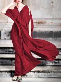 Plus Size Off Shoulder Party High Slit Long Maxi Dress