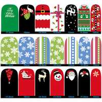 DANCINGNAIL Christmas Nail Art Sticker Decals DIY Design Decoration Snowman Elk Snowflake