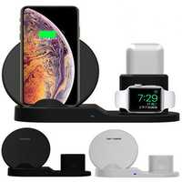 Bakeey 3 in 1 Fast QI Wireless Charger Stand Dock For iPhone 8 X XS Watch iwatch Airpod
