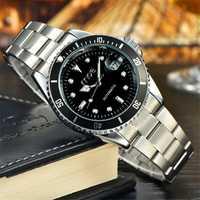 MCE 60034 Man Self-wind Mechanical Auto Date Stainless Steel Luxury Business Wrist Watch