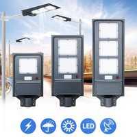 20W 40W 60W Solar LED Street Light PIR Motion Sensor Radar Induction Wall Lamp / Pole