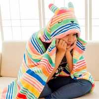 Honana WX-505 Cartoon Anime Rabbit Adult Women Men Ladies Hooded Fleece Warm Blanket Cosplay Cloak Wrap Cape Shawl Tippet