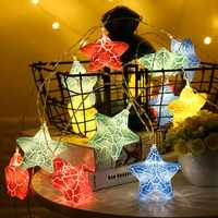 3M Battery Powered Warm White Cute Star 20 LED Fairy String Holiday Light for Christmas Party DC4.5V