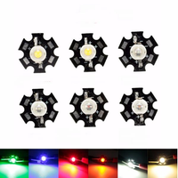 1W High Power LED PCB Bulb Beads Chips Car Indoor Reading Lamp Aquarium Heat Sink