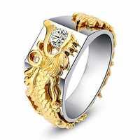 Luxury Gold Dragon Men Ring