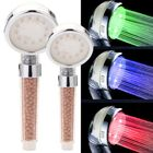 Acheter 3 Colors Changing LED Light Shower Head Handheld Boosting Filtration Water Head