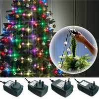 3 Modes Colorful LED Christmas Tree Fiber Fairy Night Holiday Light Bulb Lamp Decoration AC110-240V
