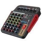 Meilleurs prix 4 Channel bluetooth Audio Mixer Contrl DJ Mic with LED Digital Display Music Stream EU Plug