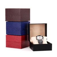 Black Red Blue Coffee Watch Box Watch Display Storage Cardboard