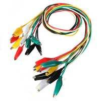 DANIU 50pcs 50cm Double-ended Clip Cable Alligator Clip Testing Probe Lead Wire
