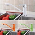 Offres Flash Fashion Style Multi-color Kitchen Faucet Cold and Hot Water Taps White Orange Green 360 Rotation