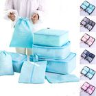 Promotion 8PCS Travel Luggage Organizer Set Storage Pouches Suitcase Packing Bags