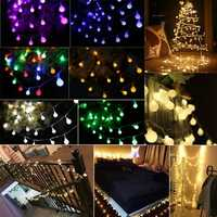 Solar Powered 7M 50LEDs Bulb Shaped Indoor Outdoor Fairy String Light for Party Wedding Christmas