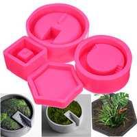 3D Silicone Flower Pot Mold Succulent Plant Concrete Vase DIY Craft Mould Decorating