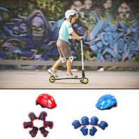 7Pcs Children Cycling Skating Skateboard Bike Helmet Elbow Knee Hand Pads Sports Protective Gear