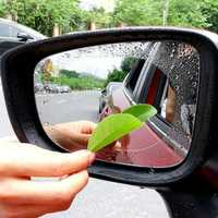 2Pcs Car Rearview Mirror Protective Film Rear View Anti Fog Coating Rainproof Waterproof Clean