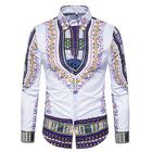 Discount pas cher National Pattern Printing Button up Men Chic Designer Shirts