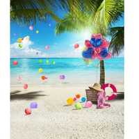 3x5FT Sunshine Beach Coco Summer Photography Backdrop Background Studio Prop