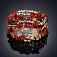 Bohemian Crushed Stone Bracelet