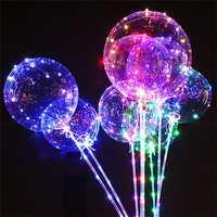 20-inch DIY Luminous Transparent Wave Ball Birthday Wedding Decoration Led Lantern Balloon Vibrating Toy