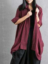 Solid Color Women Thin Cardigan