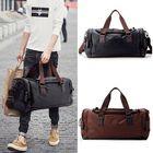 Meilleurs prix 49x22x25cm PU Leather Outdoor Sports Bag Portable Camping Handbags Travel Bag for Gym Fitness