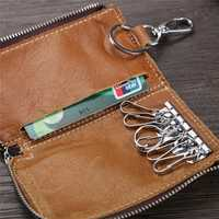 Men And Women Retro 6 Key Holder Purse Solid Card Holder