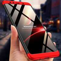 Bakeey™ 3 in 1 Double Dip 360° Hard PC Protective Case For Samsung Galaxy A7 2018 / A9 2018
