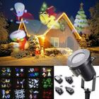 Meilleurs prix 12Pattern Waterproof LED Moving Laser Projector Stage Light Christmas Halloween Lamp