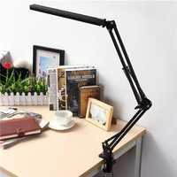 Foldable Adjustable Pure White Swing Arm LED Desk Lamp Touch Dimmable Eye Care Table Lamp