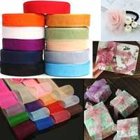 50 Yard 25mm Transparent Organza Ribbon Wedding Party DIY Decoration