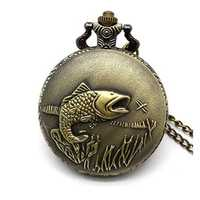 DEFFRUN Big Auspicious Fish Pocket Watch