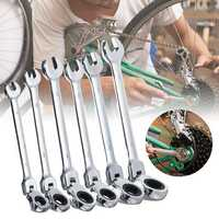 6Pcs Gear Wrench Open Spanner Movable Ratchet Repairing Tool 8mm 10mm 12mm 13mm 14mm 17mm