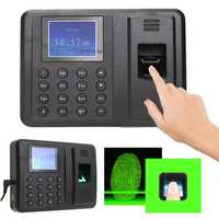 HD Screen Password Fingerprint Time Recorder Clock Attendance Machine Employee