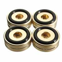 4pcs 40x15mm Isolation Speaker Stand Base Turntable Golden Feet Pad