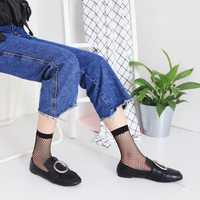 Women Girl Black Sexy Harajuku Fish Net Socks Mesh Hollow Thin Breathable Ankle Sock