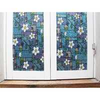 2M*45cm Window Film Privacy Static Cling Stained Glass Sticker Home Office Decor