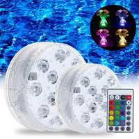 Swimming Pool Light LED Underwater Remote RGB Control Multi Color Fountain Light