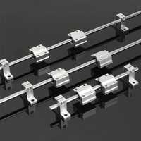 200/600/800mm x 8mm Linear Rail Shaft Rod with Bearing Guide Support and SCS8UU Bearing Block