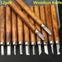 12pcs Multifunction Chisel Handmade Wood Carving Tool
