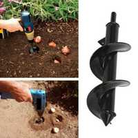 8x30cm Earth Drill Bit Irrigating Planting Auger Drill Bit Digs Hole For Bulb Plant