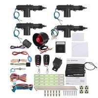 Remote Control Car Alarm System Keyless Entry Security 2 4 Door Power Lock Actuator Motor Kit