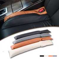 Interior Car Seat Pad Gap Filler Spacer Cushion Padding Leakproof Protector Leather Strip Accessories