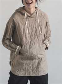 Women Cotton Drawstring Hoodies Long Sleeve Sweatshirt