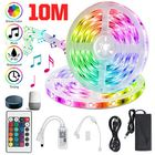 Meilleurs prix 32.8ft RGB LED Strip Lights, Smart Home Alexa Wifi Wireless Controlled Light Strip Rope Kit Decoration Lights Working with Alexa & Assistant with 24key Remote Controller
