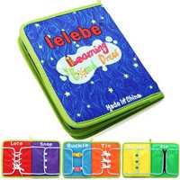 Montessori Learn Dress Boards Quick Book Early Learning Basic Life Skills Toys