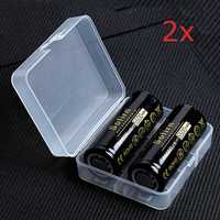 4Pcs Sofirn 3.7V 5000mAh Protected Rechargeable 26650 Battery With Storage Case High Capacity Lithium Battery Li-ion Batteries